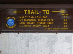 Mount Marcy Sign