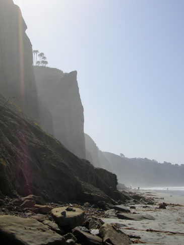 a La Jolla beach, near Torrey Pines