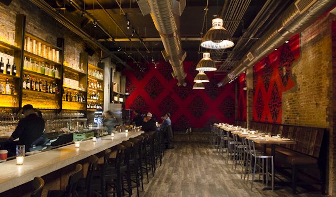 The bar at the Partisan