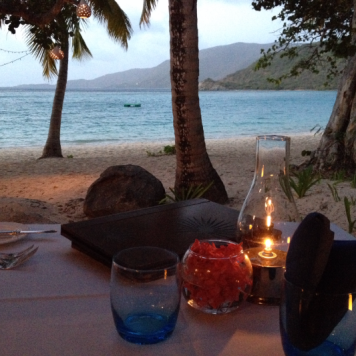 The most incredible sunset dinner